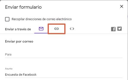 Cómo hacer una encuesta en Facebook desde los Formularios de Google paso 5