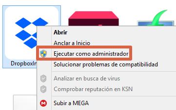 Cómo instalar Dropbox en ordenadores Windows con privilegios de administrador