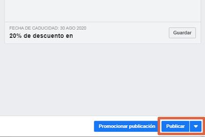 Crear oferta en Facebook paso 4