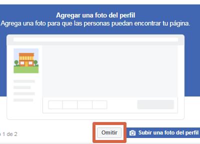 Crear página de Facebook para ventas paso 3