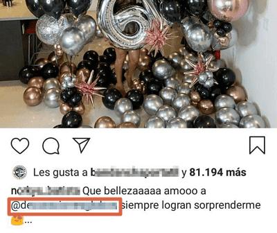 Menciones en Instagram