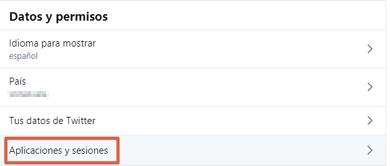 Revocar permisos de apps en Twitter paso 3