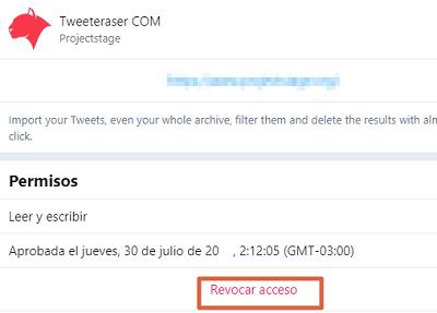 Revocar permisos de apps en Twitter paso 5