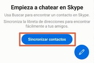 Utilizar Skype en Android paso 2