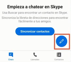 Utilizar Skype en Android paso 3