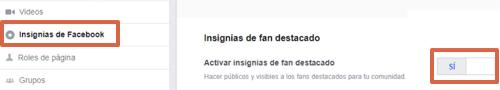 Activar la insignia de Fan Destacado en Facebook