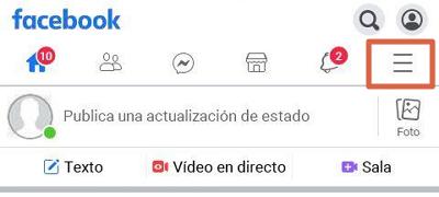 Activar la opción de seguidores en Facebook para que te empiecen a seguir en Facebook Lite paso 1