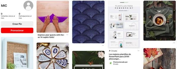 Caractersiticas de Pinterest