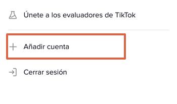 Cómo añadir otra cuenta de TikTok paso 3