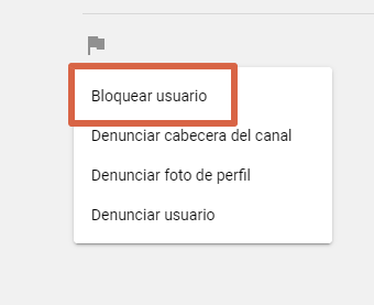 Cómo bloquear un usuario en YouTube desde la PC paso 4