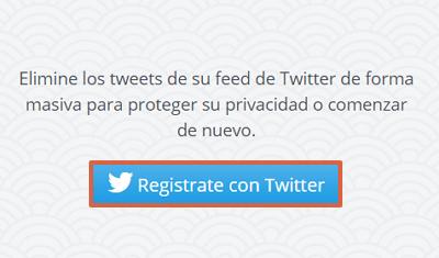 Cómo borrar todos los tweets de una cuenta Twitter con Tweet Delete paso 1