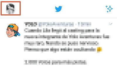 Cómo borrar tweets individualmente en Twitter desde el teléfono paso 1