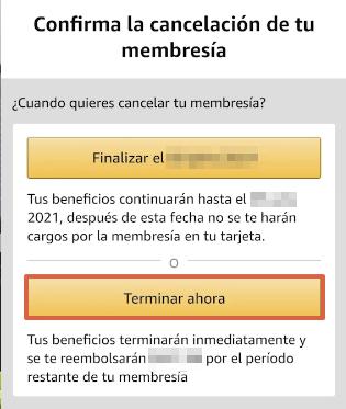 Cómo cancelar la suscripción de Amazon Prime desde la app paso 10