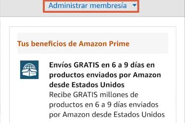 Cómo cancelar la suscripción de Amazon Prime desde la app paso 5