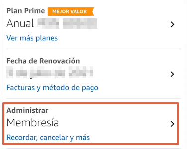 Cómo cancelar la suscripción de Amazon Prime desde la app paso 6