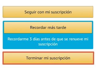 Cómo cancelar la suscripción de Amazon Prime desde la app paso 9