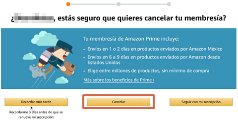 Cómo cancelar la suscripción de Amazon Prime desde la computadora paso 6