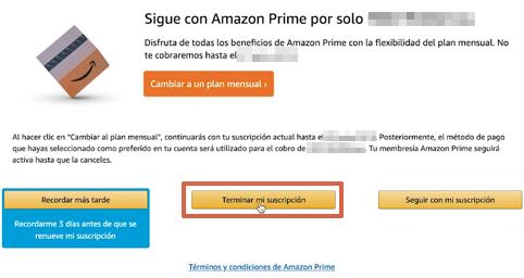 Cómo cancelar la suscripción de Amazon Prime desde la computadora paso 7
