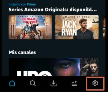 Cómo cancelar los canales de Amazon Prime Video desde la app paso 2