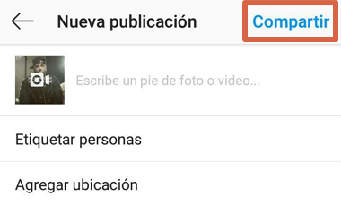 Cómo compartir videos desde YouTube a Instagram manualmente paso 4