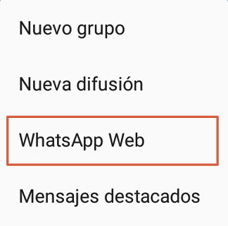 Cómo conectar el teléfono a WhatsApp web paso 3