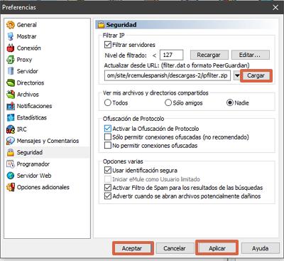 Cómo configurar la seguridad en eMule paso 3