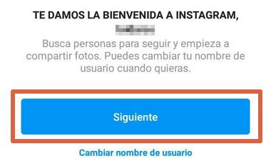Cómo crear una cuenta en Instagram si no me deja hacerlo paso 7