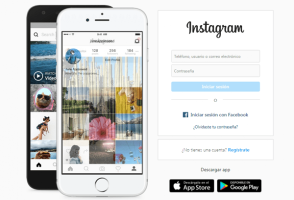 Cómo crear una cuenta en Instagram si no me deja hacerlo - versión web