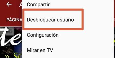 Cómo desbloquear un usuario bloqueado en YouTube desde el móvil paso 4