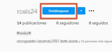 Cómo desbloquear un usuario que fue bloqueado en Instagram desde la PC paso 5