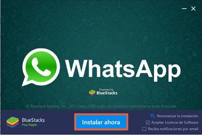 Cómo descargar WhatsApp para PC Windows o Mac con BlueStacks paso 4