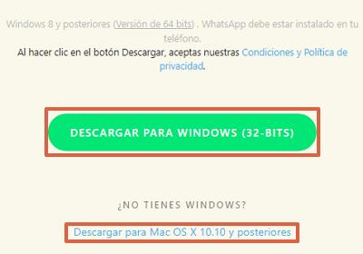 Cómo descargar WhatsApp para PC Windows o Mac desde el navegador paso 2