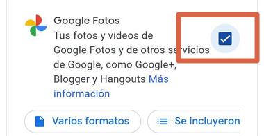Cómo descargar todas las fotos desde Google Fotos al celular paso 8