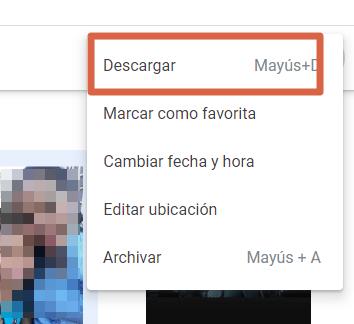 Cómo descargar un álbum completo desde Google Fotos al ordenador paso 5
