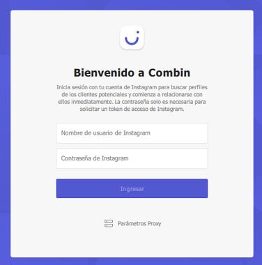 Cómo eliminar seguidos y personas que no te siguen de vuelta en Instagram usando Combin paso 2