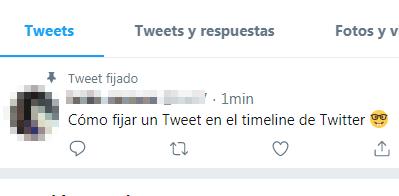 Cómo fijar un tweet en el timeline de Twitter paso 4
