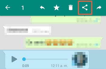 Cómo guardar o descargar audios de WhatsApp desde el celular paso 2