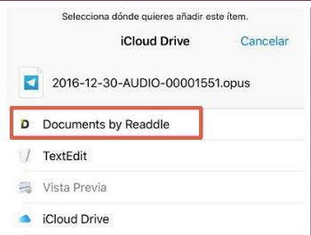 Cómo guardar o descargar audios de WhatsApp para iOS paso 5