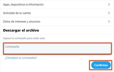 Cómo hacer una copia de seguridad de tus datos en Twitter paso 4