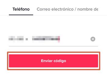 Cómo iniciar sesión o entrar a tu cuenta de Tik Tok con teléfono, correo o nombre de usuario paso 3