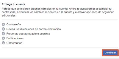 Cómo recuperar una cuenta de Facebook robada con hackeada con Facebook Hacked paso 4