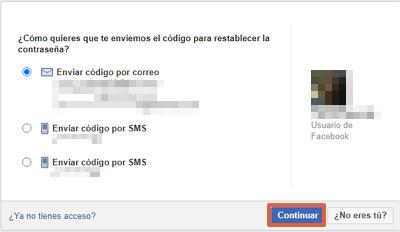 Cómo recuperar una cuenta de Facebook robada con hackeada con el correo electrónico paso 2