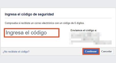 Cómo recuperar una cuenta de Facebook robada con hackeada con el correo electrónico paso 3