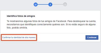 Cómo recuperar una cuenta de Facebook robada con hackeada con un documento de identificación paso 3