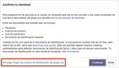 Cómo recuperar una cuenta de Facebook robada con hackeada con un documento de identificación paso 5