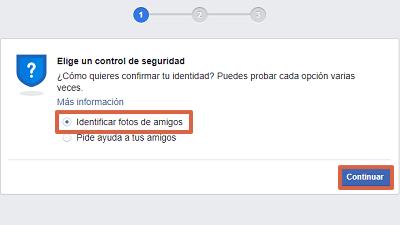 Cómo recuperar una cuenta de Facebook robada con hackeada identificando fotos de amigos paso 2