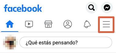 Cómo saber quiénes te siguen en Facebook desde el celular usando la app oficial paso 2