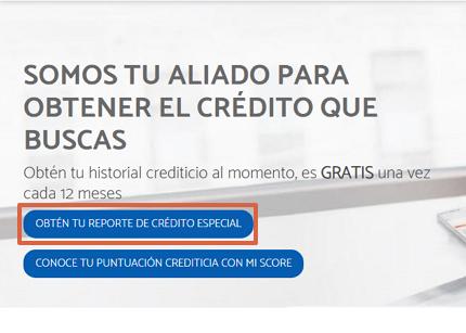 Cómo saber si estoy en Buró de Crédito a través de la página web paso 1