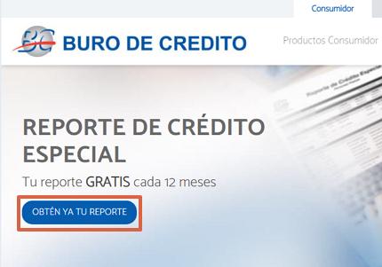 Cómo saber si estoy en Buró de Crédito a través de la página web paso 2