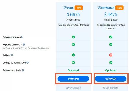 Cómo saber si tienes deudas utilizado la página web Destácame paso 8